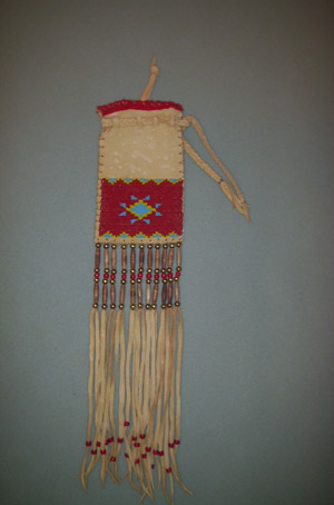 beaded tobacco bag